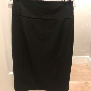 Gray pencil skirt from express size 4